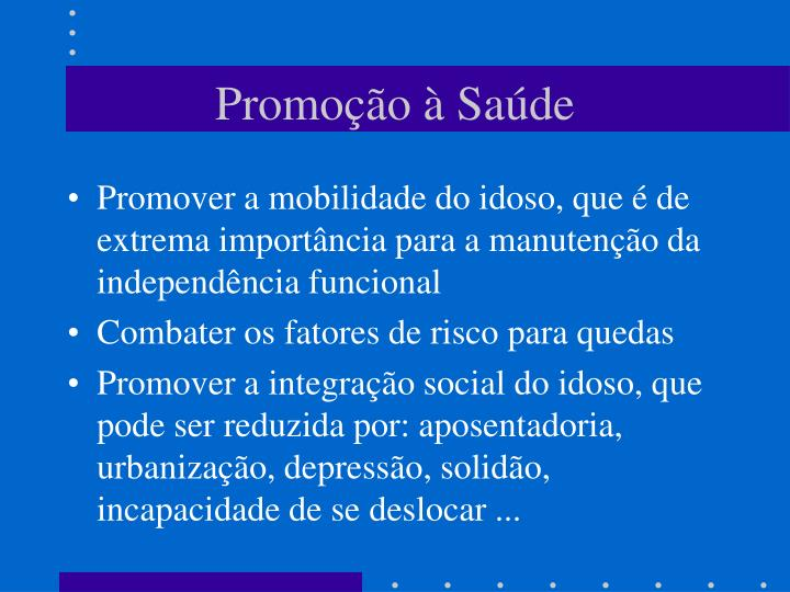 Promoção à Saúde