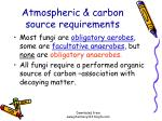 atmospheric carbon source requirements