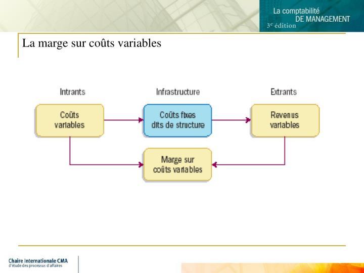 La marge sur coûts variables