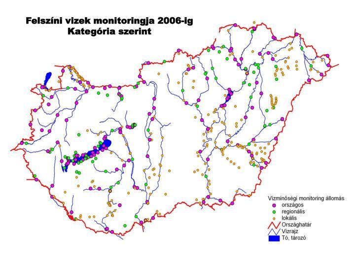 Felszíni vizek monitoringja 2006-ig
