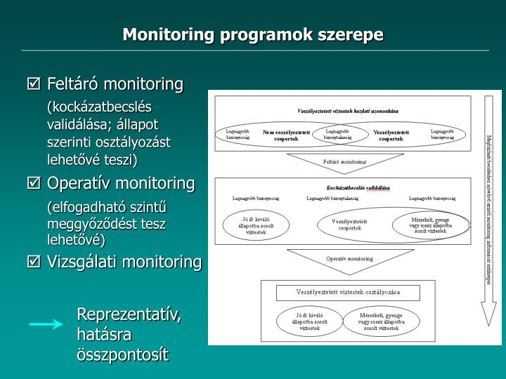 Monitoring programok szerepe