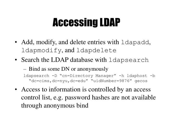 Accessing LDAP