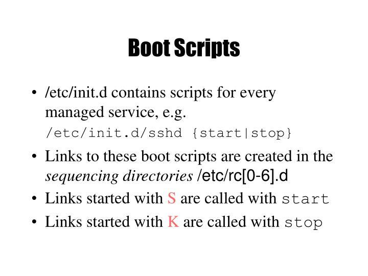 Boot Scripts