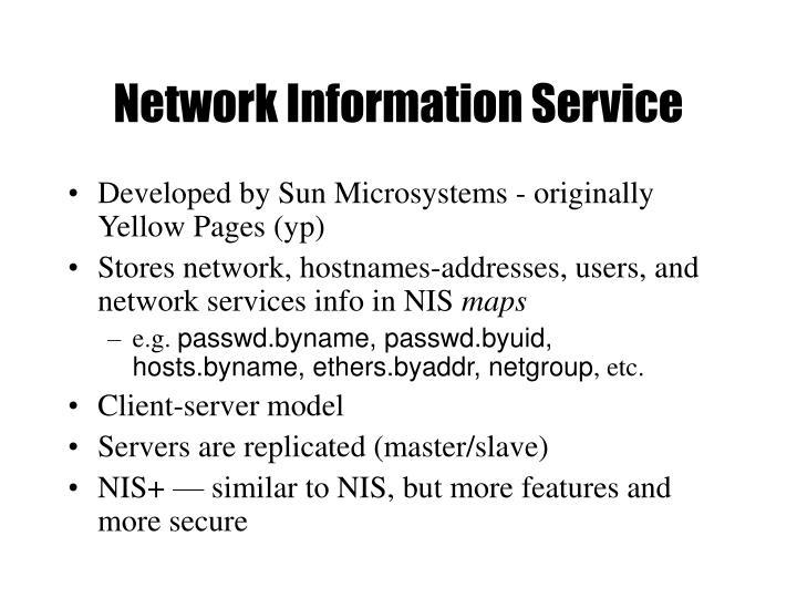 Network Information Service
