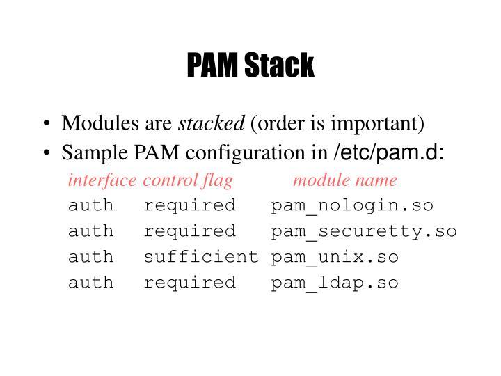 PAM Stack
