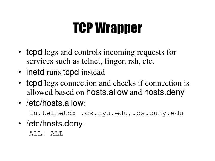 TCP Wrapper