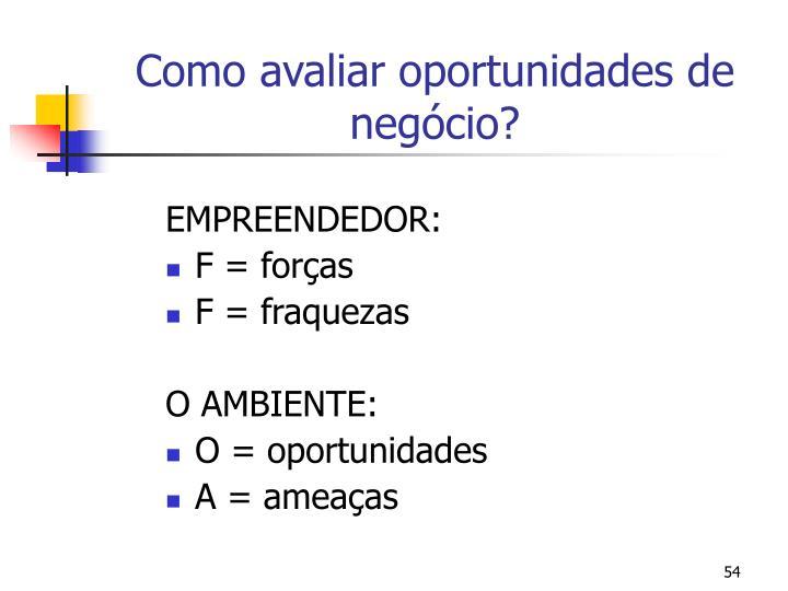 Como avaliar oportunidades de negócio?
