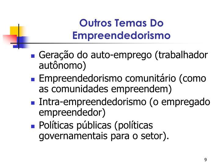 Outros Temas Do Empreendedorismo