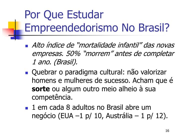 Por Que Estudar Empreendedorismo No Brasil?