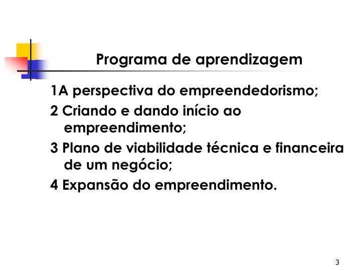 Programa de aprendizagem