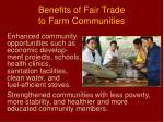 benefits of fair trade to farm communities