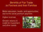 benefits of fair trade to farmers and their families