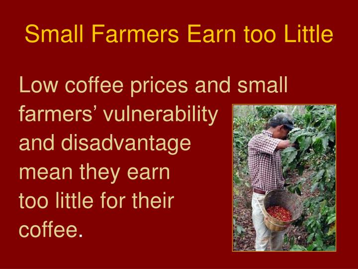 Small Farmers Earn too Little