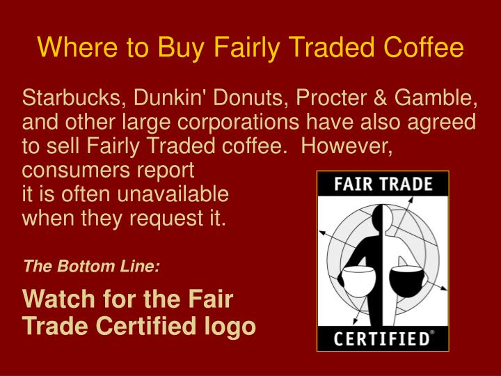 Where to Buy Fairly Traded Coffee