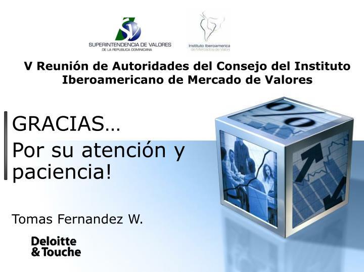 V Reunión de Autoridades del Consejo del Instituto Iberoamericano de Mercado de Valores