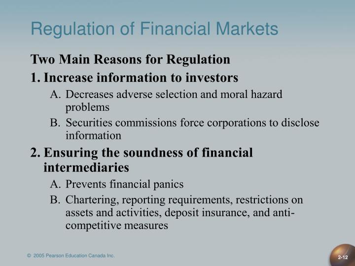Regulation of Financial Markets