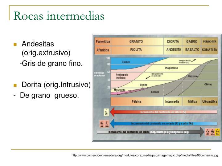 Rocas intermedias