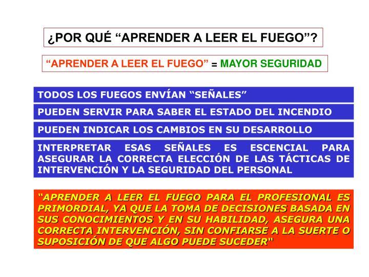 """TODOS LOS FUEGOS ENVÍAN """"SEÑALES"""""""