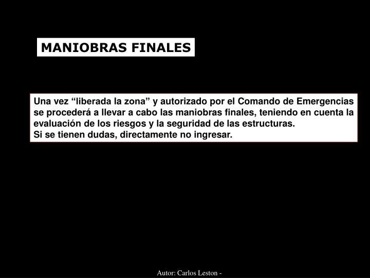 MANIOBRAS FINALES