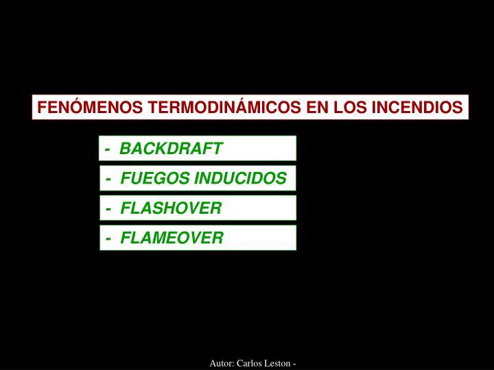 FENÓMENOS TERMODINÁMICOS EN LOS INCENDIOS