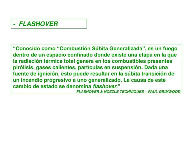 -  FLASHOVER