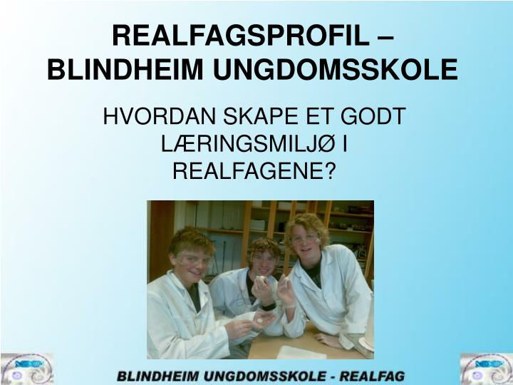 REALFAGSPROFIL –