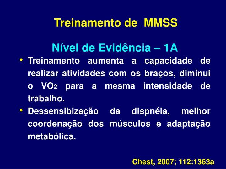 Treinamento de  MMSS