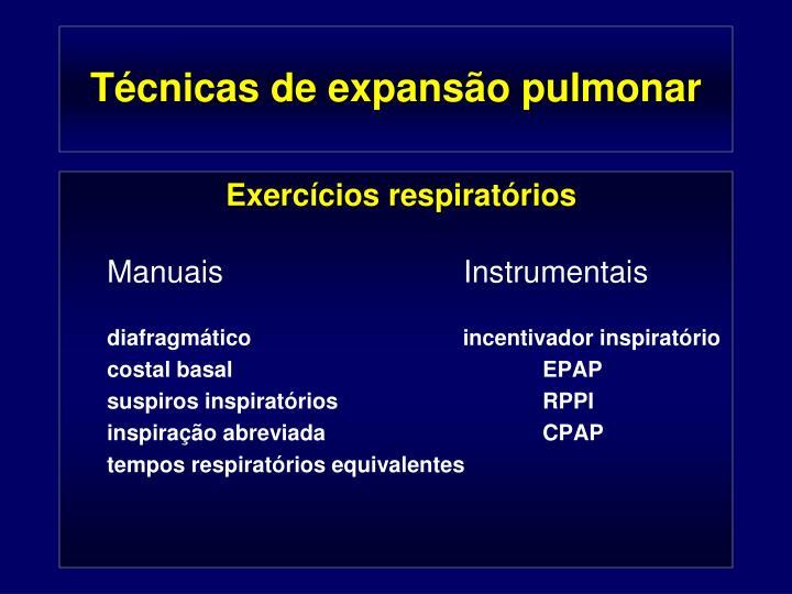 Técnicas de expansão pulmonar