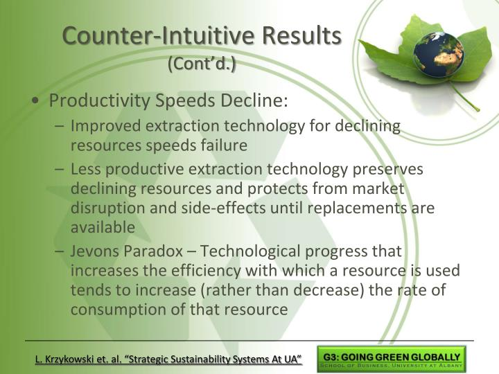 Counter-Intuitive Results