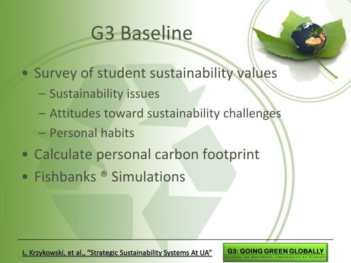 G3 Baseline