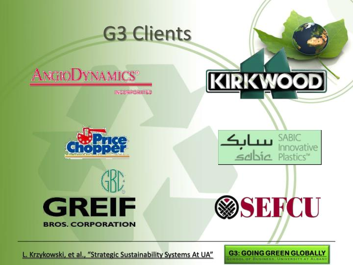G3 Clients