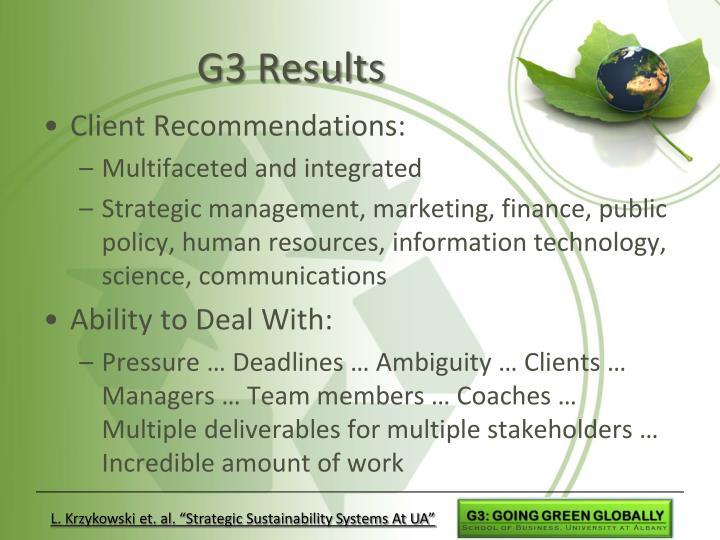 G3 Results