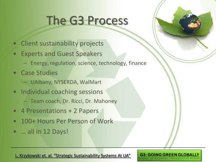 The G3 Process
