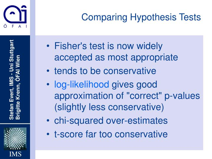 Comparing Hypothesis Tests