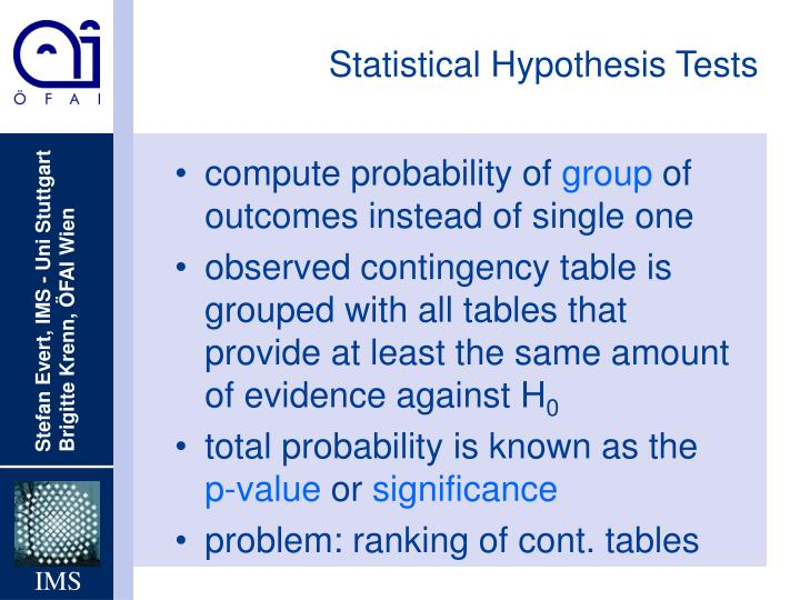 Statistical Hypothesis Tests