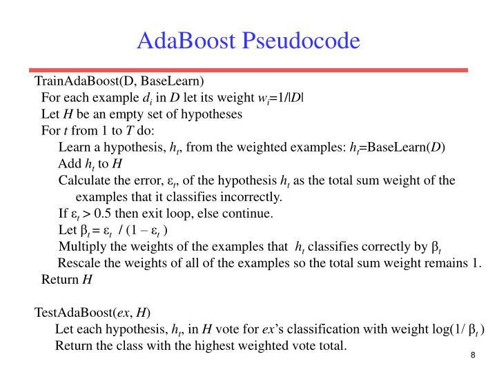 AdaBoost Pseudocode