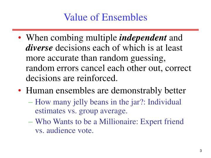 Value of Ensembles
