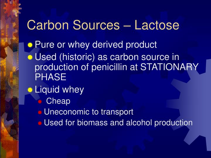 Carbon Sources – Lactose