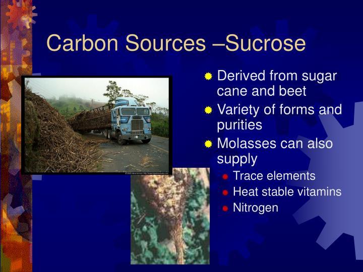 Carbon Sources –Sucrose