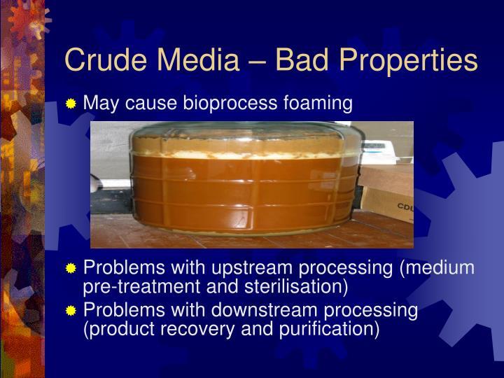 Crude Media – Bad Properties