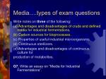 media types of exam questions