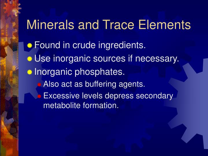 Minerals and Trace Elements
