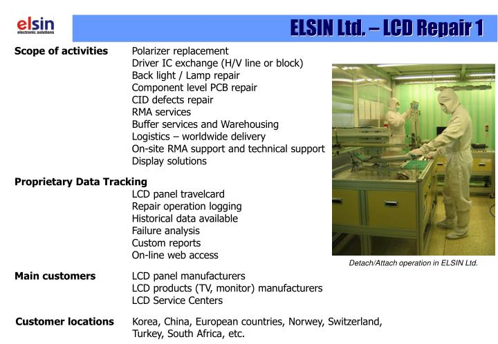ELSIN Ltd. – LCD Repair 1