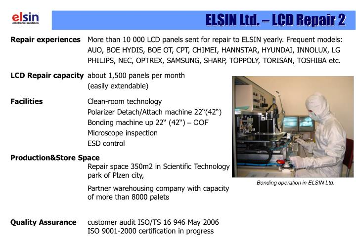 ELSIN Ltd. – LCD Repair 2
