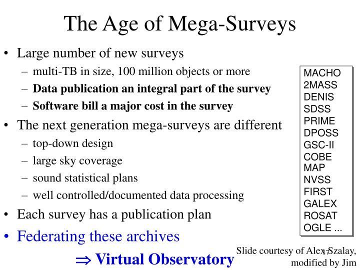 The Age of Mega-Surveys