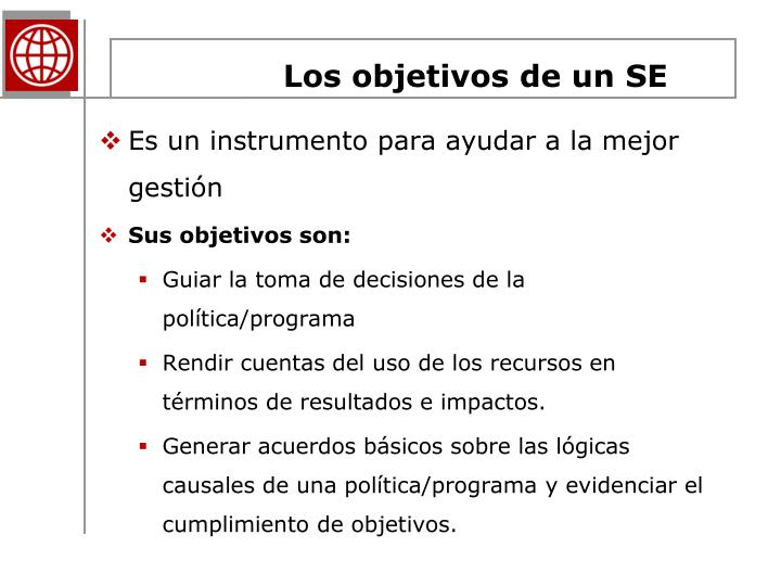 Los objetivos de un SE