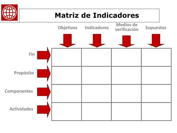 Matriz de Indicadores