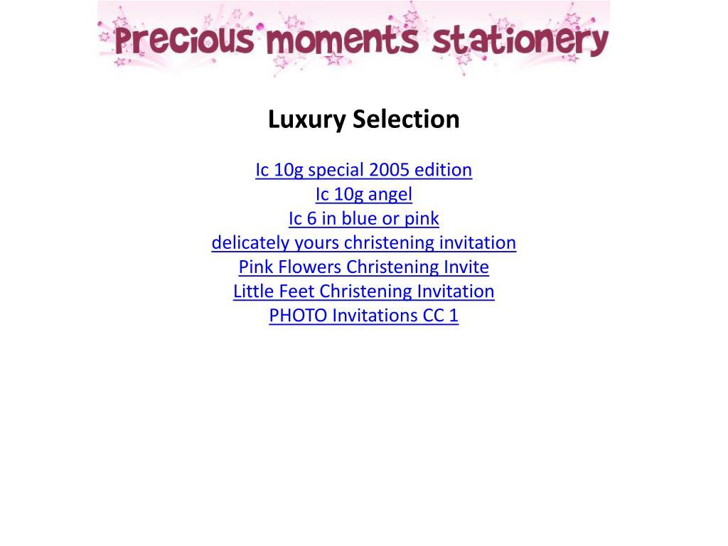 Luxury Selection