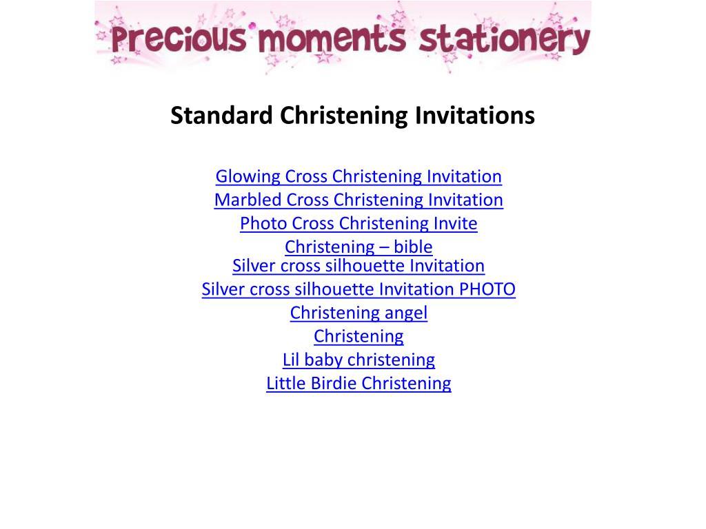 Standard Christening Invitations