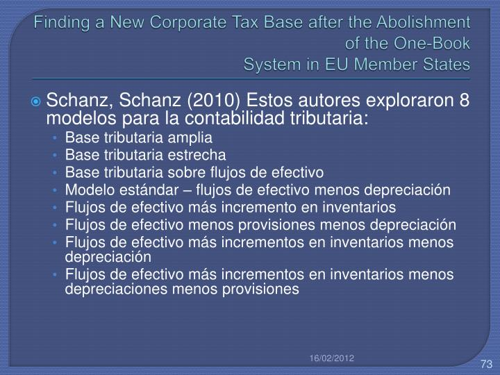 Finding a New Corporate Tax Base after the Abolishment of the One-Book